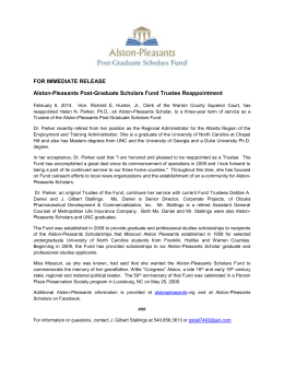 Helen Parker Trustee Reappointment
