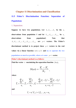 11.5 Fisher`s discriminant function