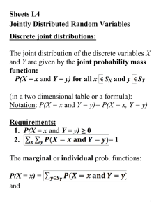 L3: Lecture notes: Joint disributions