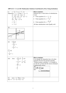 2009 A Level H1 Maths Solution