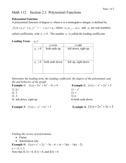 Math 112 Section 2