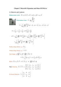 Chapter 2 Maxwell`s Equations and Plane EM Waves