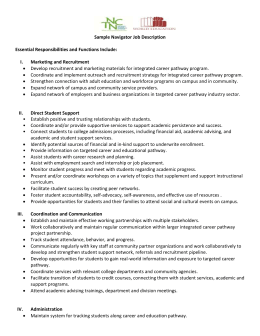 Sample Navigator Job Description - National College Transition