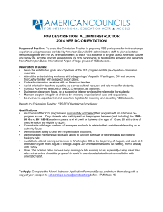 JOB DESCRIPTION: ALUMNI TEACHING ASSISTANT