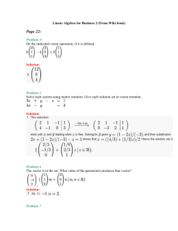 Linear Algebra for Business 1 (From Wiki book)
