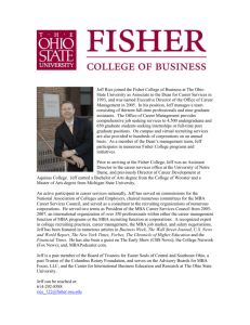 Jeff Rice joined the Fisher College of Business at The Ohio State