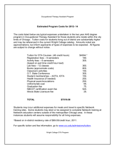Estimated program costs - City Colleges of Chicago