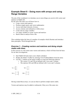 mathcad worksheet 8