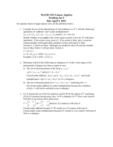 MATH 3328 Differential Equations