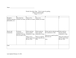 Name: Weekly Newsletter Page – Print 4 copies for grading (Attach