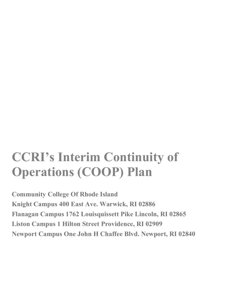 Viii Coop Planning Responsibilities