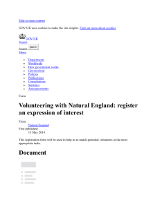 Volunteering with Natural England: register an expression of interest