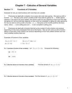 Chapter 7 - Calculus Of Several Variables