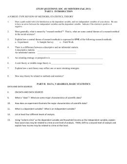 Crime and Deviance exam questions Crime questions – Qu. 1 & 2