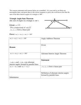 Triangle Angle-Sum Theorem