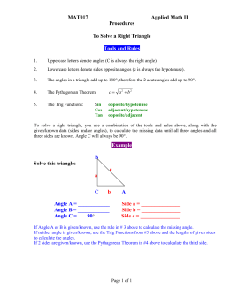 Tips on Solving a Right Triangle in Word