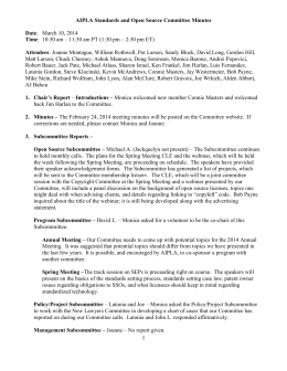 Standards and Open Source Committee Minutes 3-10-14
