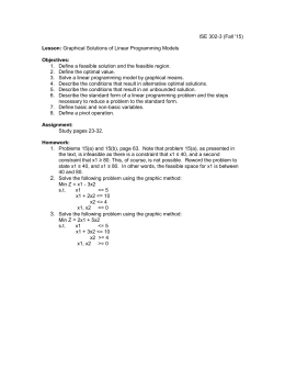 Lesson 3: Graphical Solutions of Linear Programming Models
