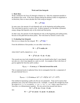 Work and Line Integrals
