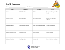 RAFT examples for math