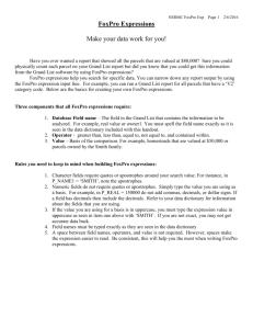 Microsoft OLE DB Provider for Visual FoxPro 8 0 Readme