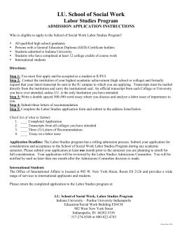 Application Form  - Labor Studies