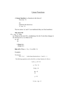 Linear Functions And Graphs