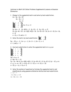 Math 163 Online Problems Supplemental Lessons on Gaussian