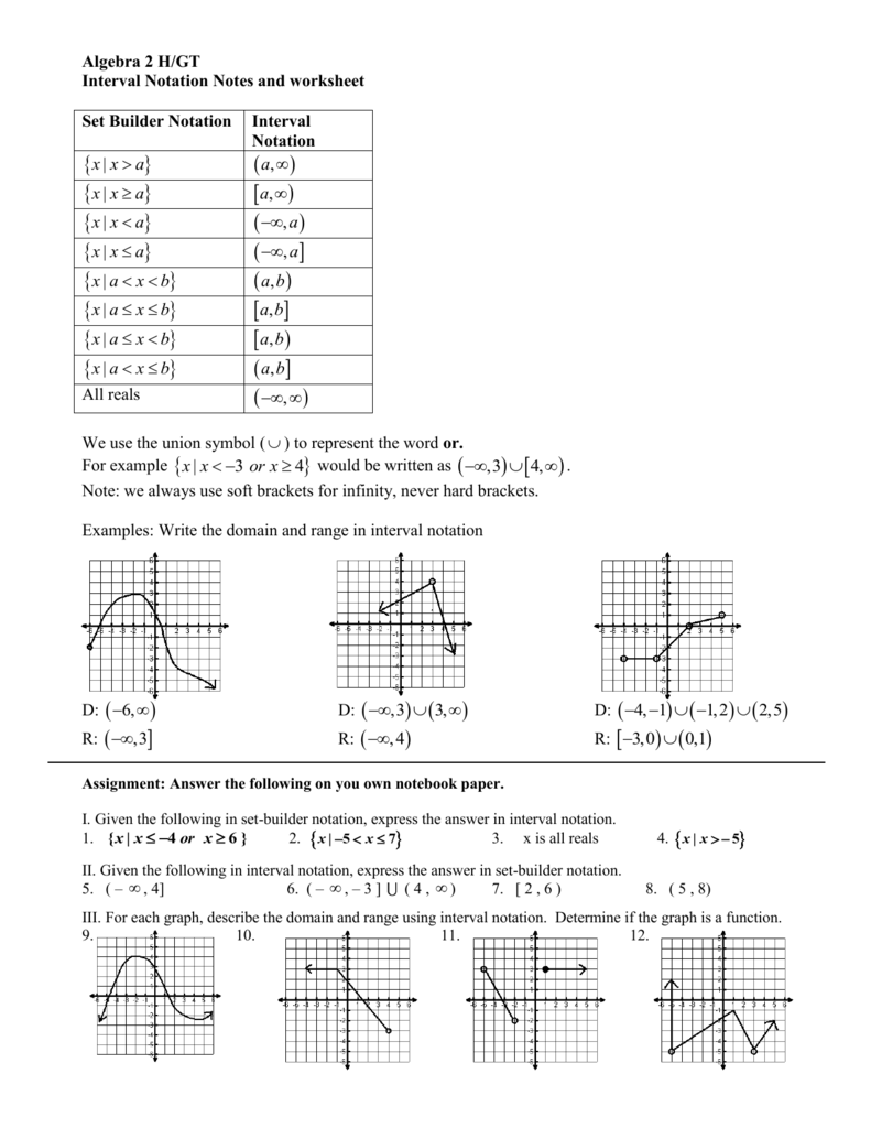 - Interval Notation - Fort Bend ISD / Homepage