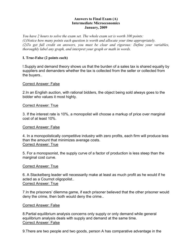 answers intermediate exam
