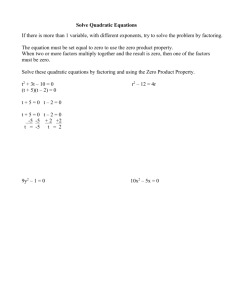 Solve Quadratic Equations