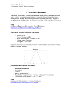 1. The Normal Distribution