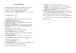 C4 Vectors Summary