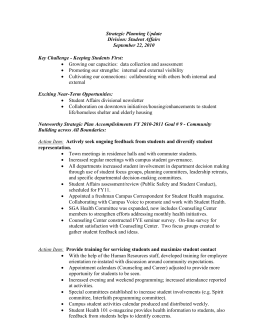 Student Affairs - Summary Report