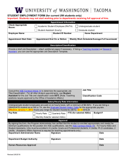Student Employment Form