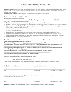 academic advisor/departmental letter - ASU Students Site