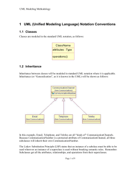 1 UML Notation Conventions