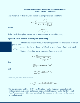 The Radiation Damping Absorption Coefficient Profile, Thompson