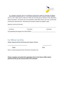 Alumni Graduate Waiver Application Form