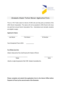 Graduate Alumni Tuition Waiver Application Form