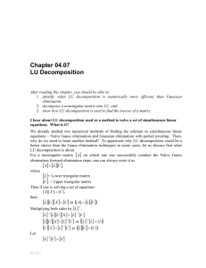 LU decomposition: General Engineering