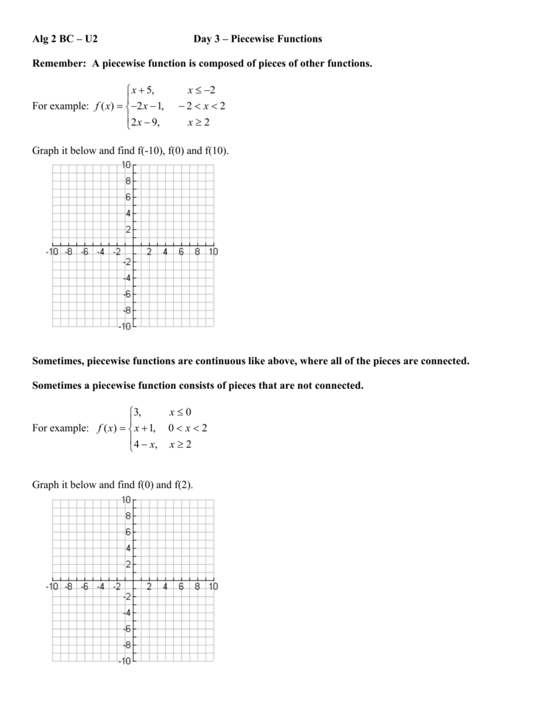 worksheet Greatest Integer Function Worksheet piecewise functions and greatest integer function