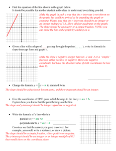 DAN Graph Ax – By = -C