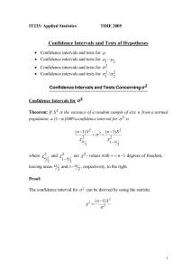 Confidence Intervals and Tests of Hypotheses