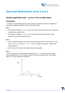 Sample application task – curves in the complex plane
