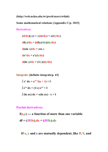 Some mathematical relations [Appendix C/p