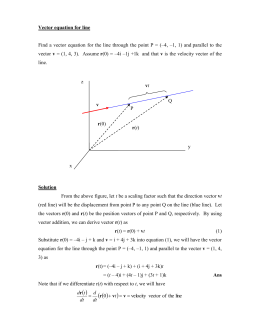 Vector equation for line
