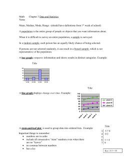Math Chapter 3 Data and Statistics