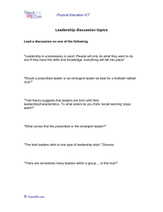 Leadership discussion topics
