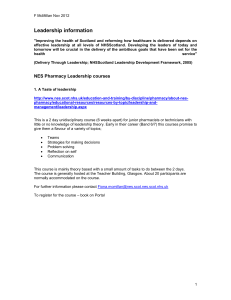 Leadership information - NHS Education for Scotland